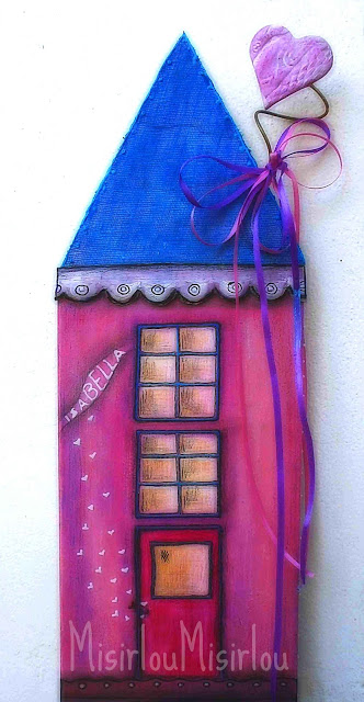 PINK HOUSE mixed media