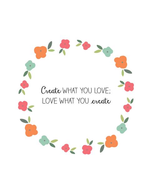 free printable create love art